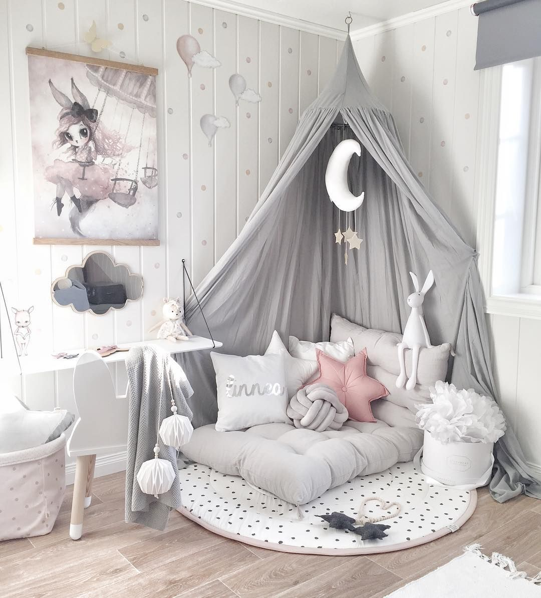 LOVE THE PRETTY COLOUR COMBO IN THIS COZY & FABULOUS ROOM, ALL SET FOR A LITTLE GIRL! - SO SWEET!