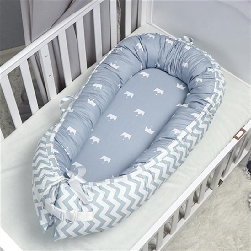 Abreeze Baby Bassinet Anchor Baby Lounger Co-Sleeping Baby Bed Cotton Portable Crib Baby Nest Baby Sleeping Bed Newborn Lounger Travel Baby Bed