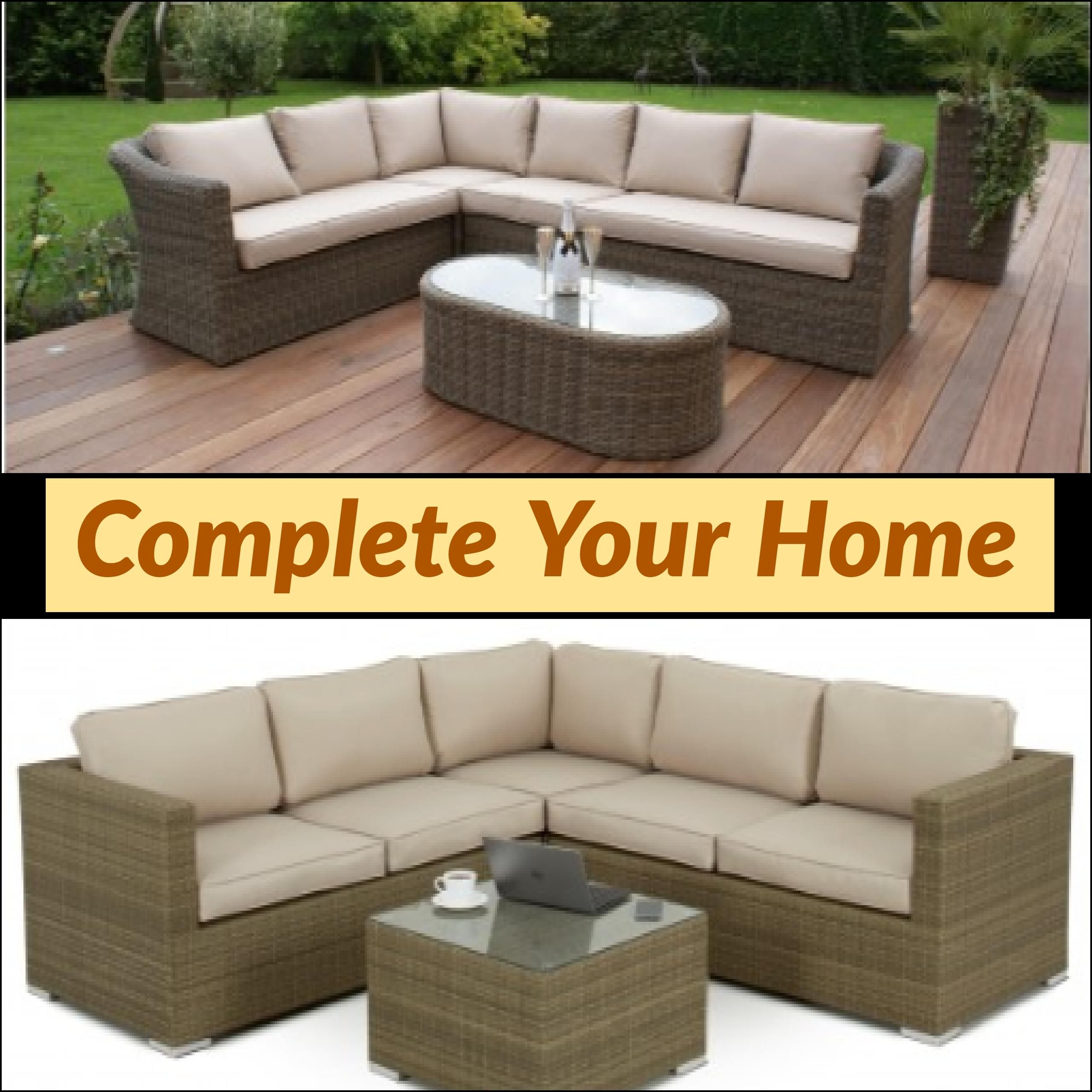 The Hand Woven Waterproof Garden Furniture With Thick Comfy Cushions To Give You The Ultimate Relaxation Gard Corner Sofa Set Outdoor Furniture Sets Sofa Set