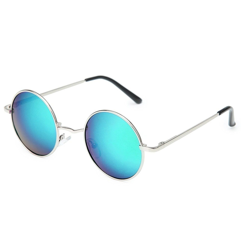5205ef64f6 Joopin Round Retro Polaroid Sunglasses Driving Polarized Glasses Men  Steampunk