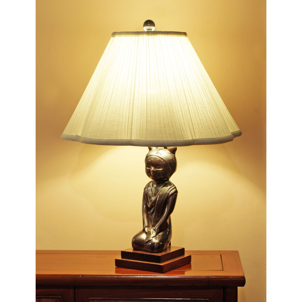 Porcelain Sitting Maiden Sculpture Table Lamp With Images Table Lamp Lamp Floor Lamp Design