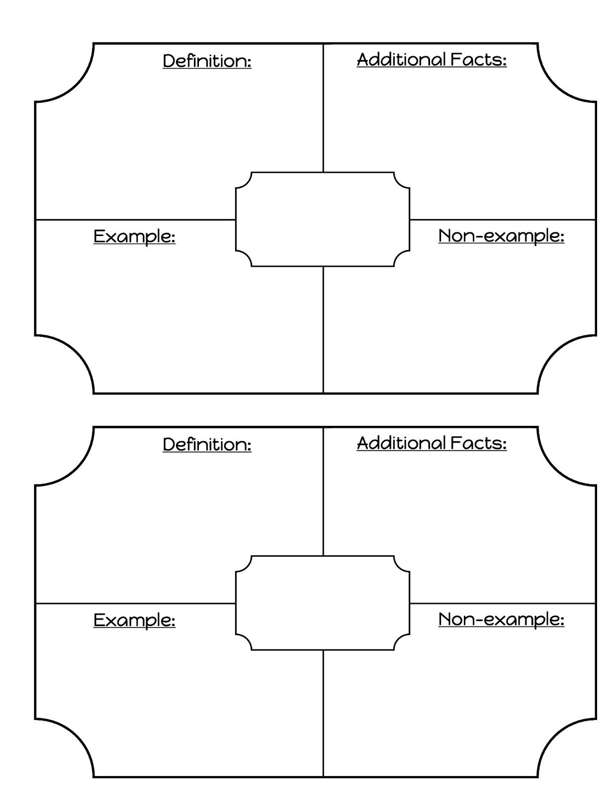 Tree Diagram Template Middle School Math