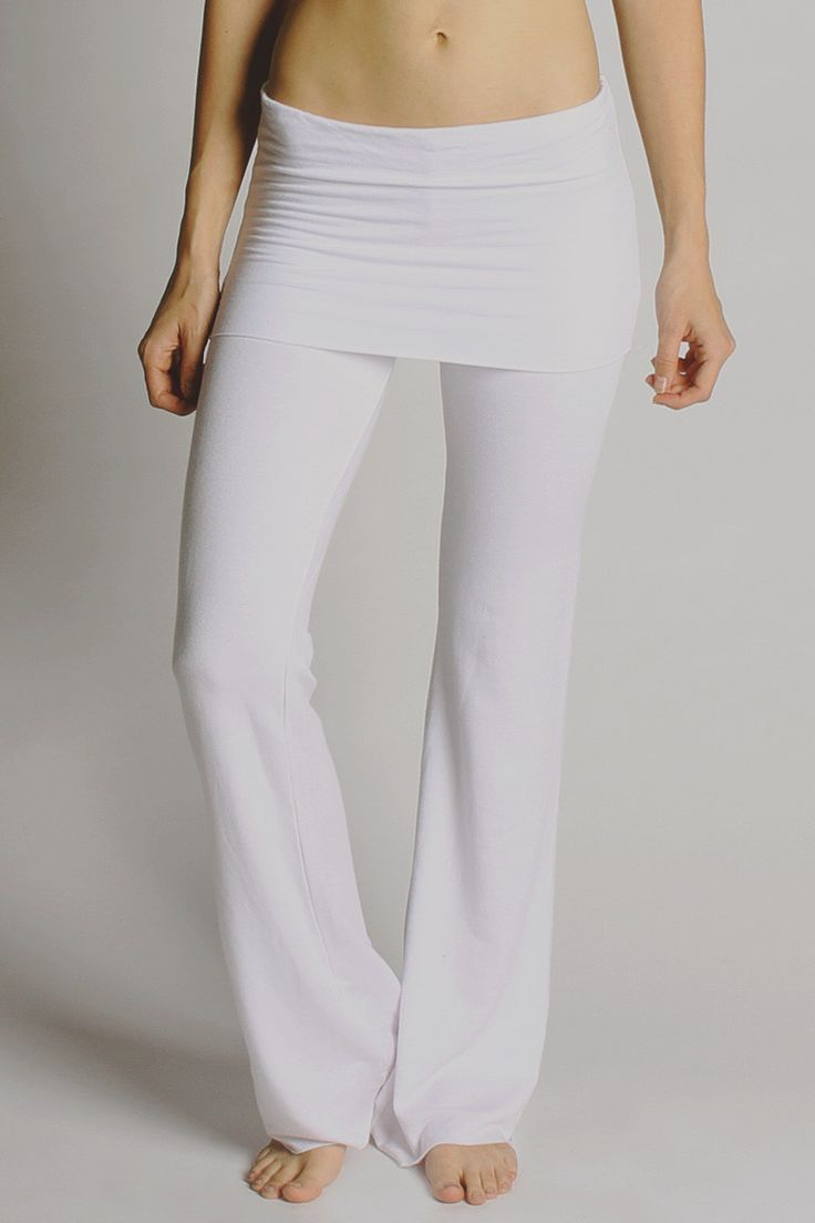 Fold-Over French Terry Flare Yoga Pants - LVR - A flattering flare ...
