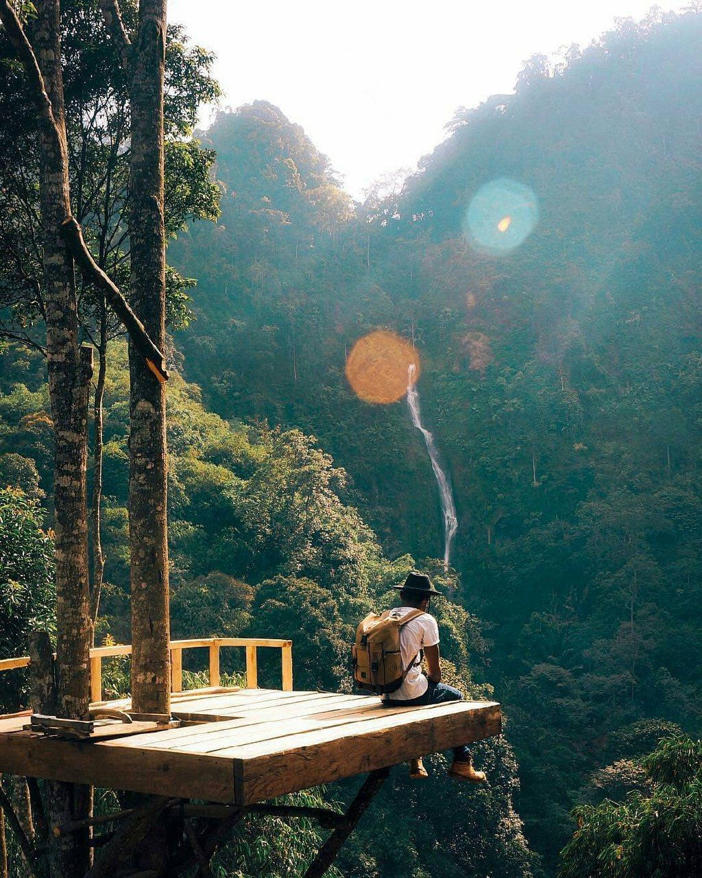 A Beautiful View Of Curug Cibareubeuy Waterfall In Subang