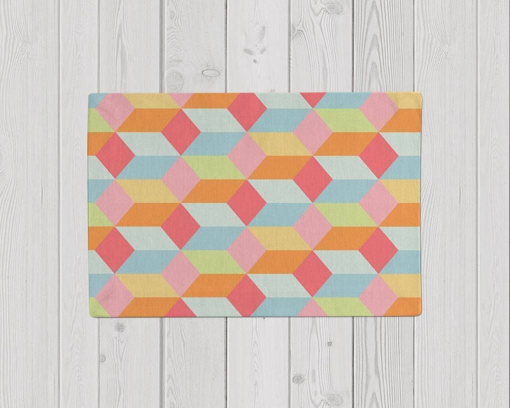 Colorful cube pattern products pinterest cube and products