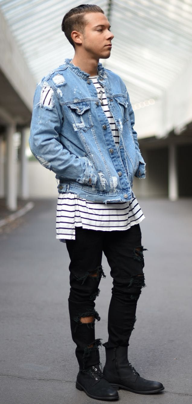 Pinterest Livdgaf Denim Fashion Destroyed Denim