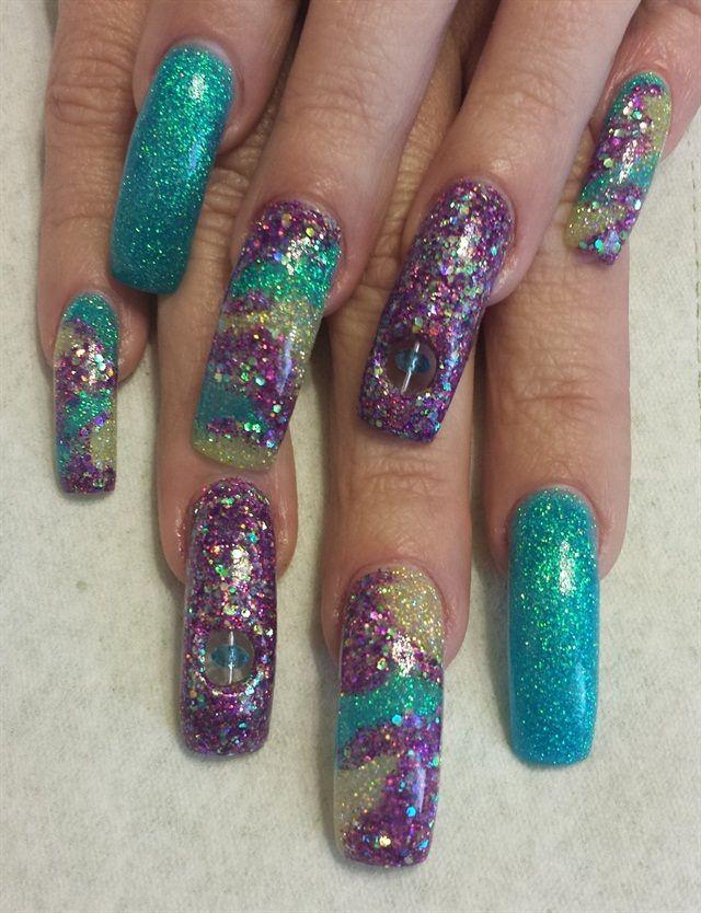 Day 40: Mardi Gras Nail Art | Nails magazine and Art nails