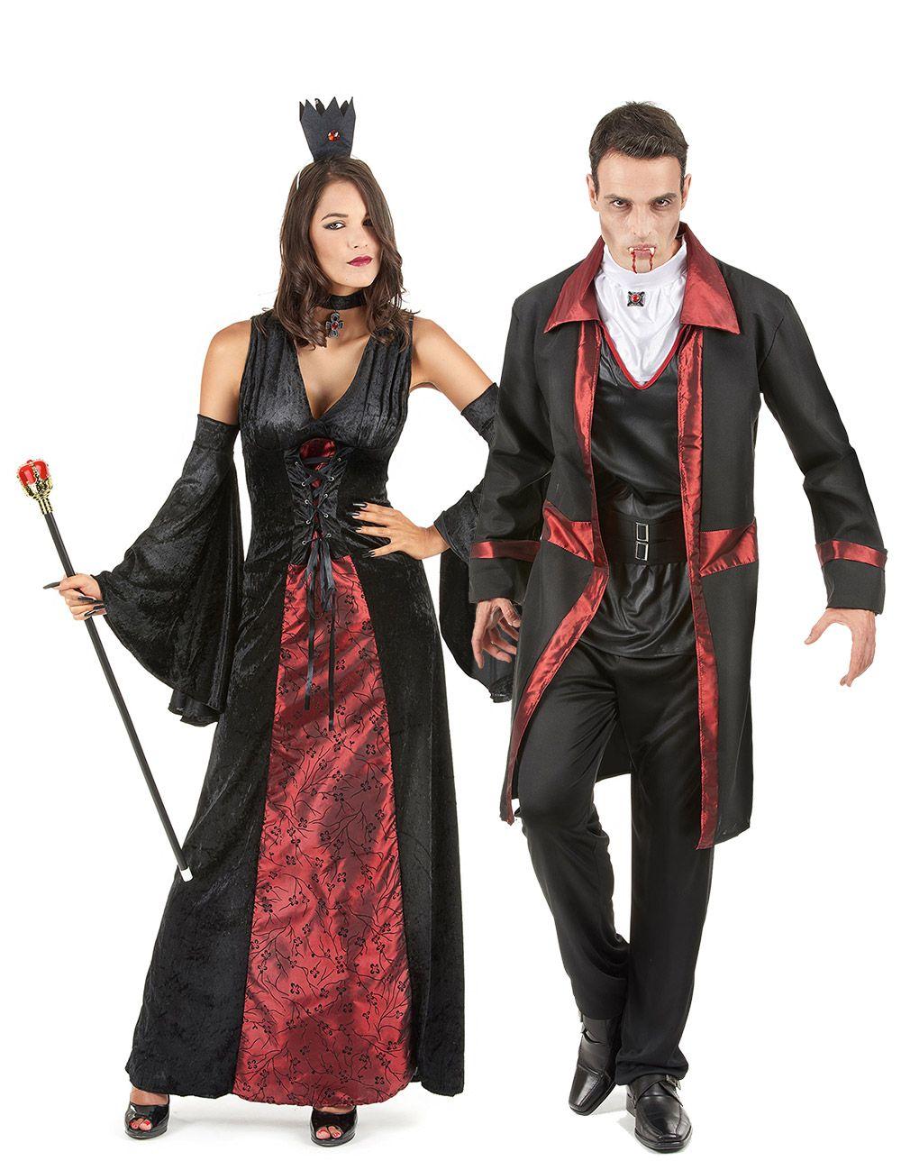 Costume coppia di vampiri rosso e nero Halloween   Costume da vampiro donna  Il costume molto 6a74e1d8dd18