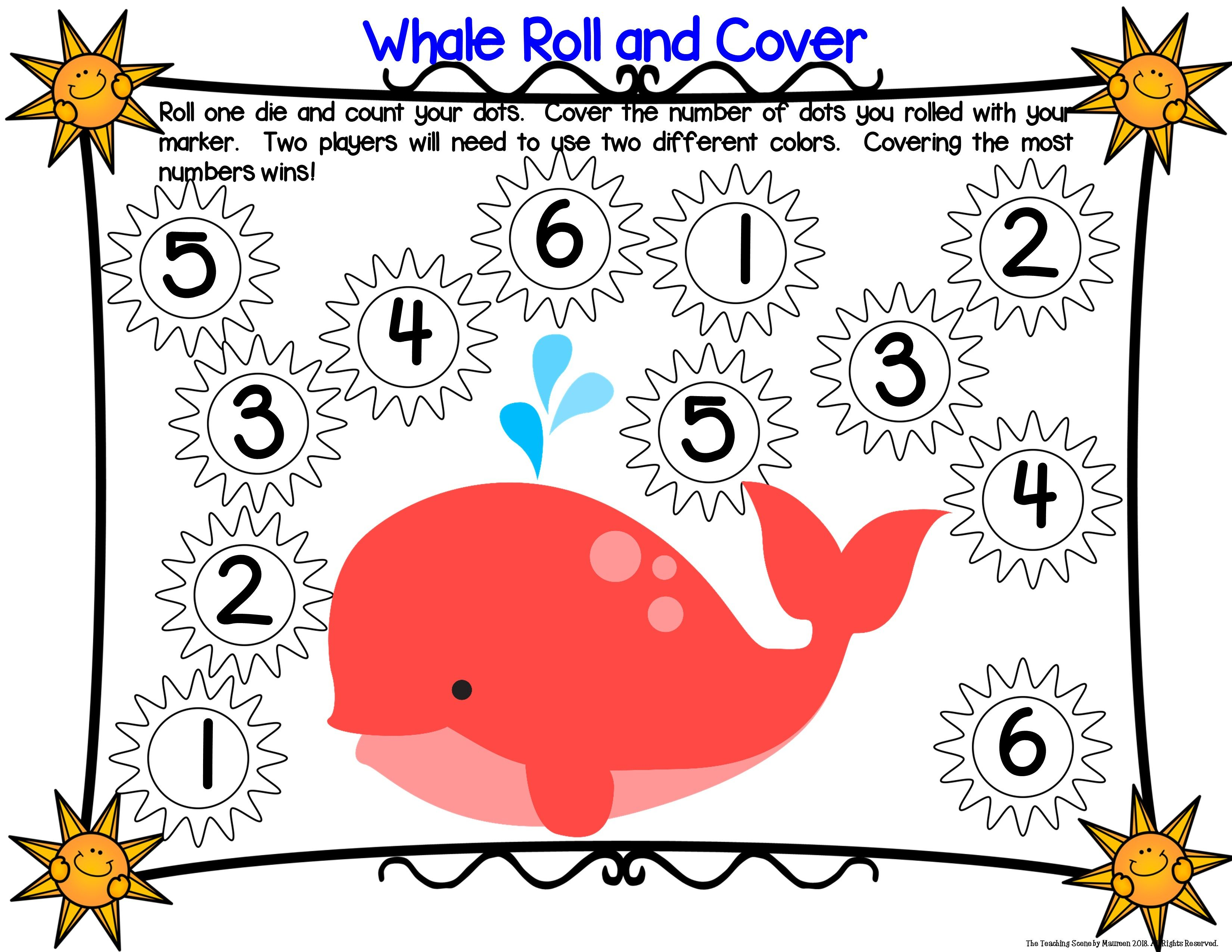 Whale Unit Ocean Theme Centers Amp Activities