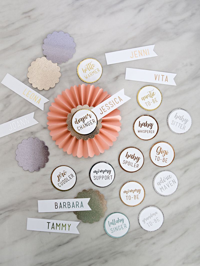 DIY Rosette Name Tags for Your Party Guests Diy name
