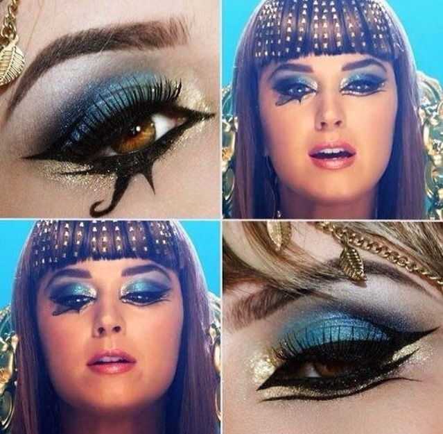 tutorial da maquiagem azul de katy perry em dark horse for my halloween costume - Eyeshadow For Halloween