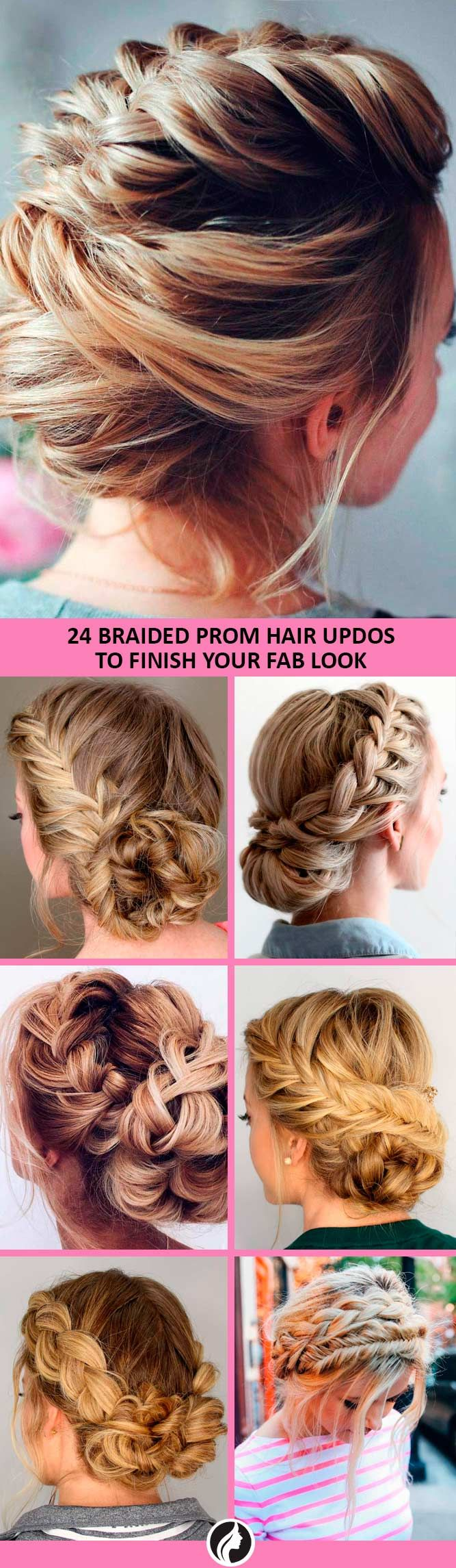 42 Braided Prom Hair Updos To Finish Your Fab Look Pinterest