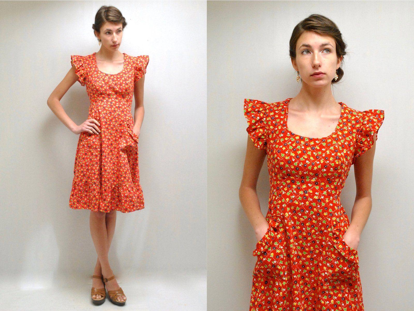 Pinafore Dress Prairie Dress Hippie Dress Midi Dress 70s Etsy Cotton Dress Summer Hippie Dresses 70s Dress [ 1200 x 1600 Pixel ]