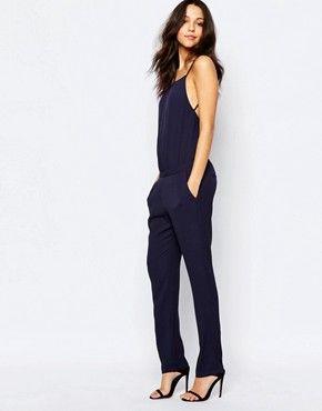 ba sh farro combinaison bretelles bleu marine mode femme pinterest bretelles. Black Bedroom Furniture Sets. Home Design Ideas