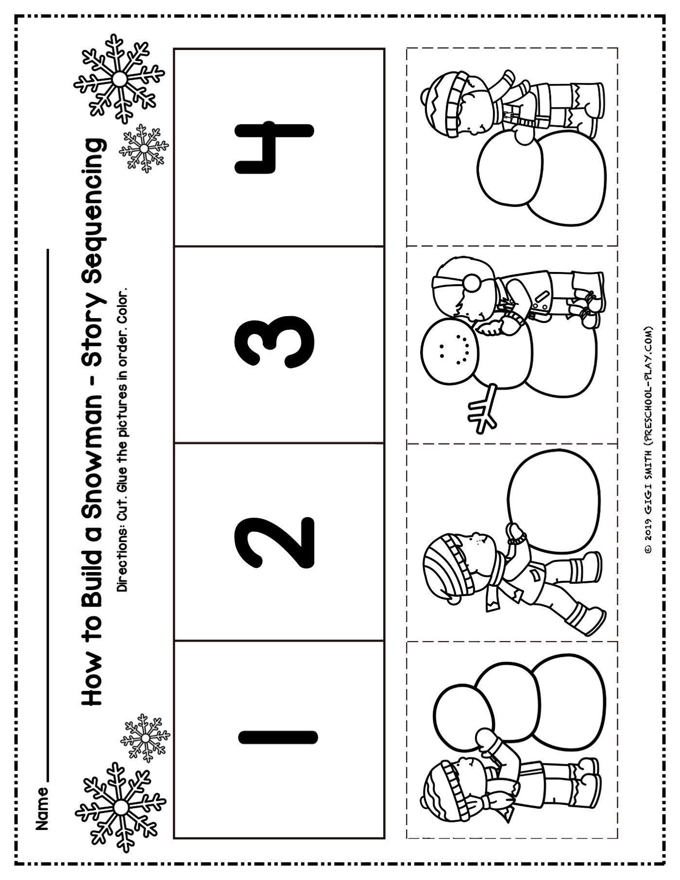 Winter Math And Literacy Activities Preschool Play Sequencing Activities Kindergarten Preschool Winter Worksheets Literacy Activities Preschool [ 1812 x 1400 Pixel ]