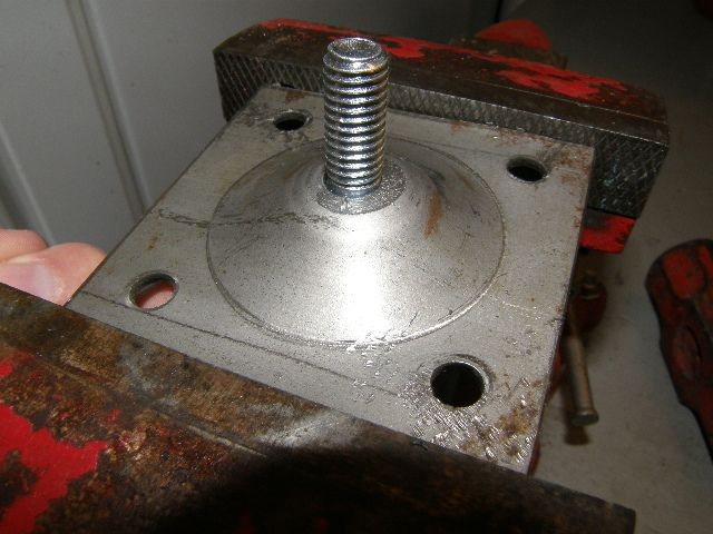 Once Drilled The Bolt Fit Up Through The Back Of The Mounting Bracket Attic Stairs Door Handles Mounting Brackets