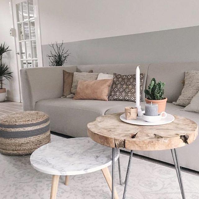 Schöne Kombination aus Naturmaterialien in rosé und Marmor Idee - schöne bilder fürs wohnzimmer