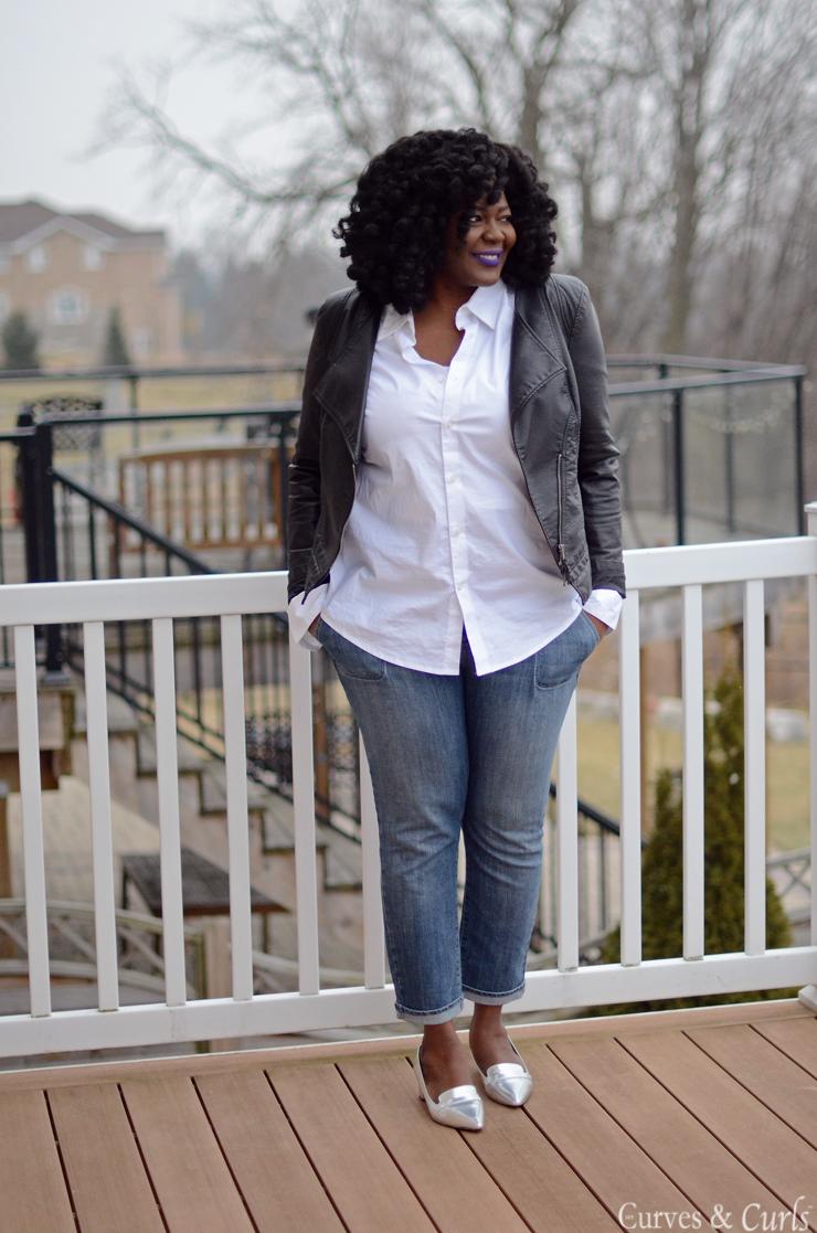Veste blanche femme ronde