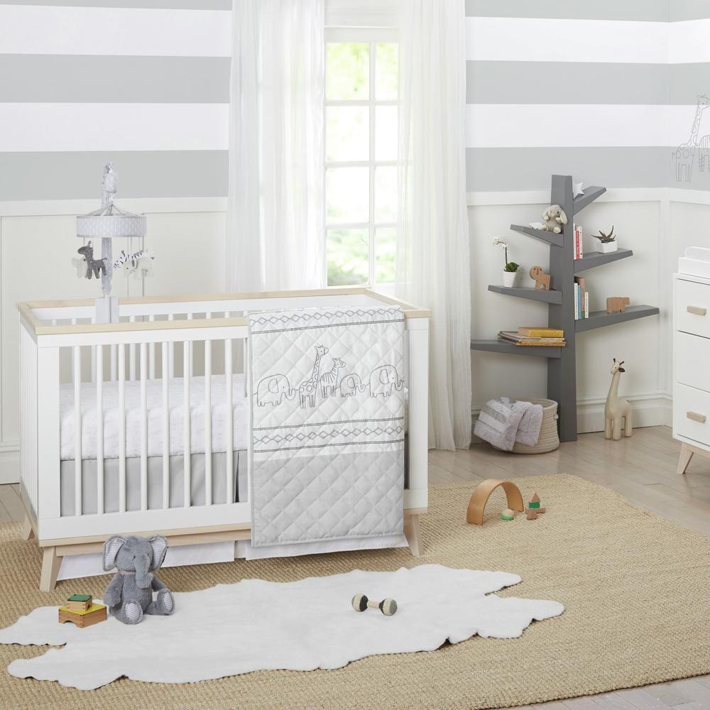 Big Dreamer Neutral 3 Piece Crib Bedding Set In 2021 Nursery Furniture Sets Nursery Bedding Sets Baby Crib Bedding 3 piece crib set furniture