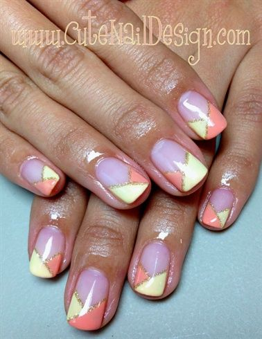 2 Color Pastel French Nails By Cutenaildesigns Nail Art Gallery