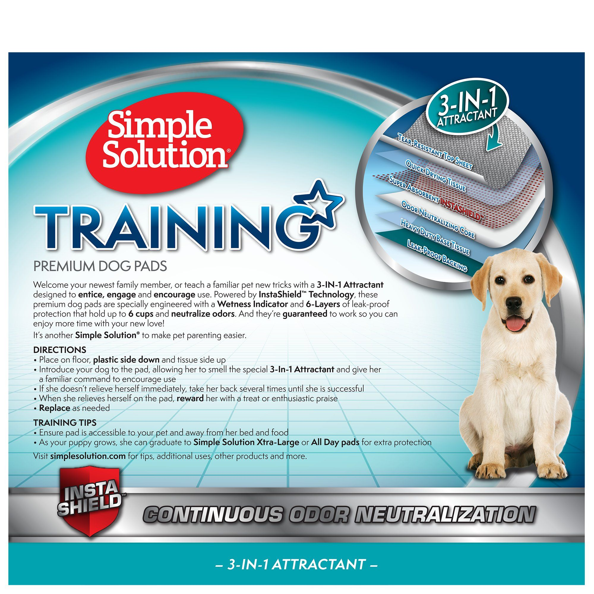 Simple Solution Dog Training Pads Count Of 100 100 Ct Dog