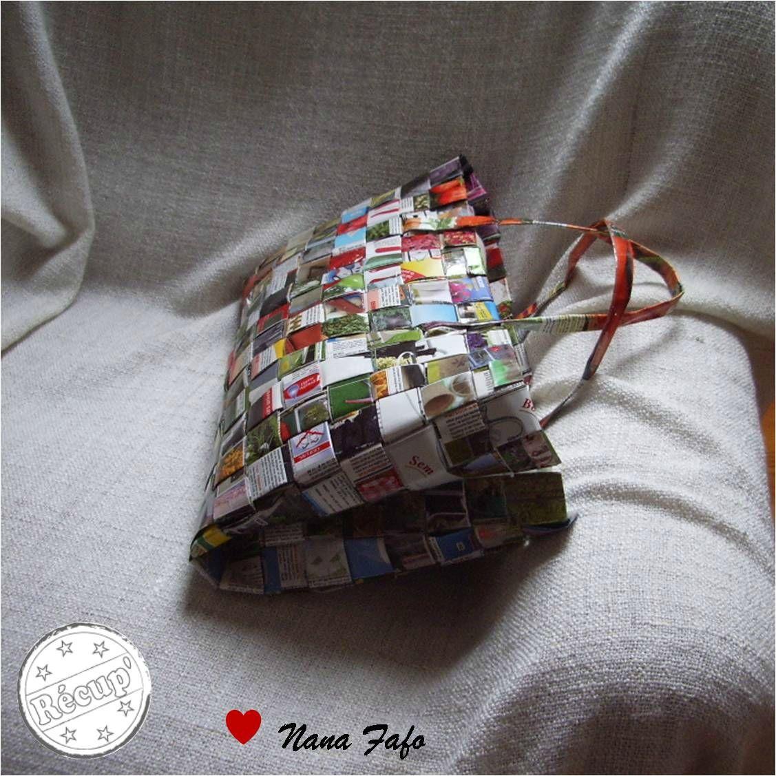 Que faire avec nos vieux magazines prospectus et - Fabriquer un sac en papier magazine ...