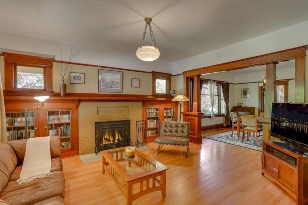 30 Best And Gorgeous Craftsman Style Decorating Ideas Freshouz Com Craftsman Living Rooms Craftsman Style Interiors Craftsman Interior Design