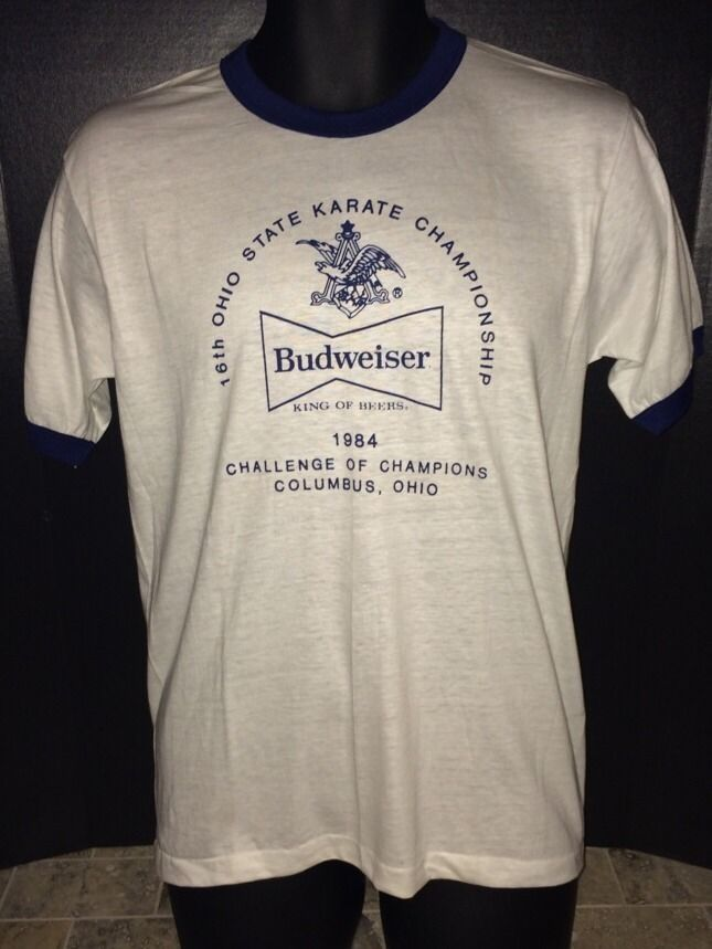 budweiser king of beers vintage thin 50/50 #80s shirt party shirt large medium from $39.99