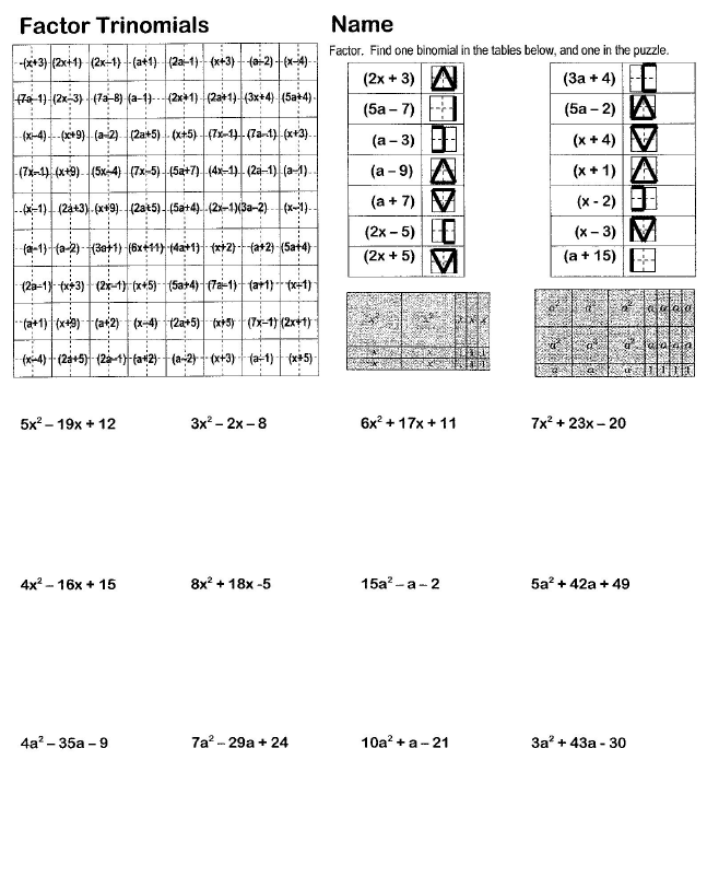 Domo Factoring Search and Shade « Hoppe Ninja Math \u2013 Teacher Blog