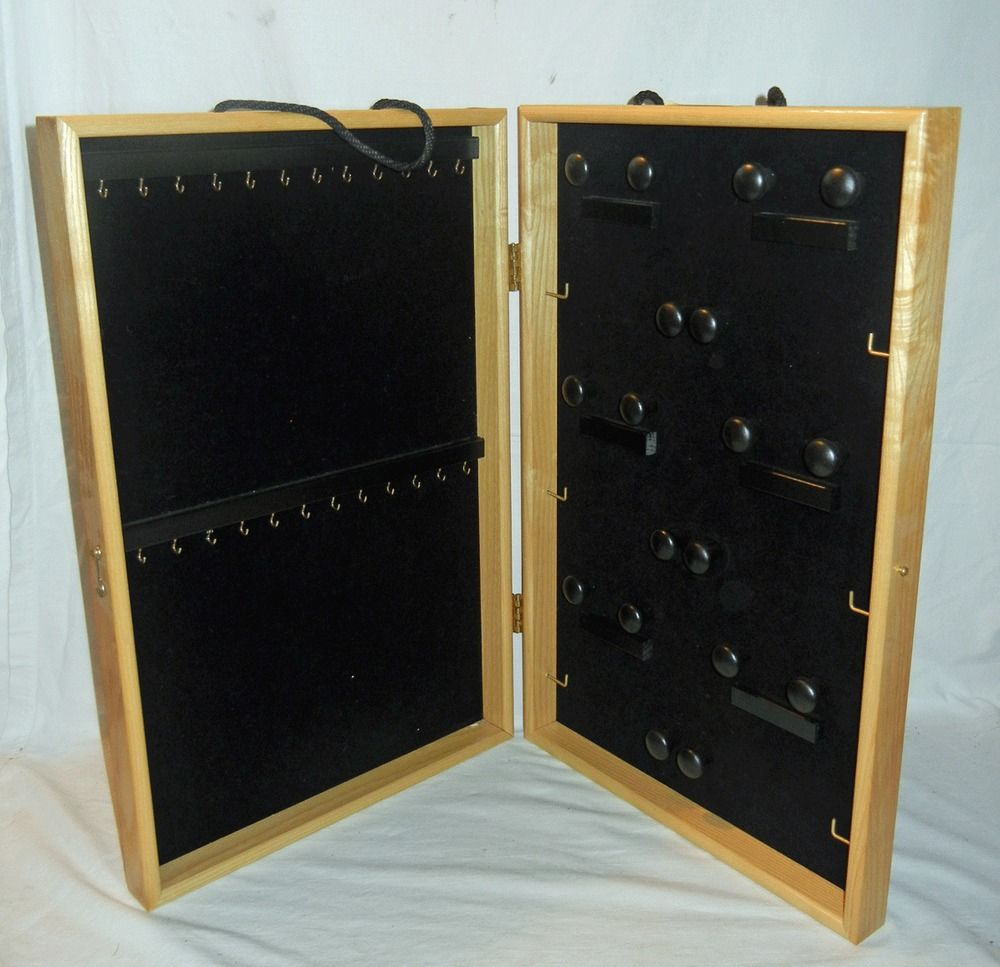 Earring Display Cases Portable Je35 Wooden