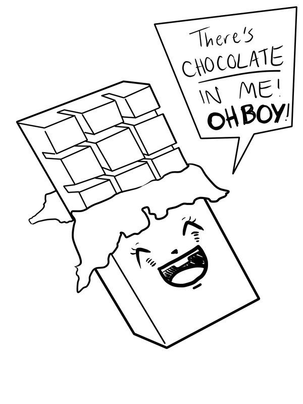 Chocolate Bar Drawing חיפוש ב Google Candy Coloring Pages