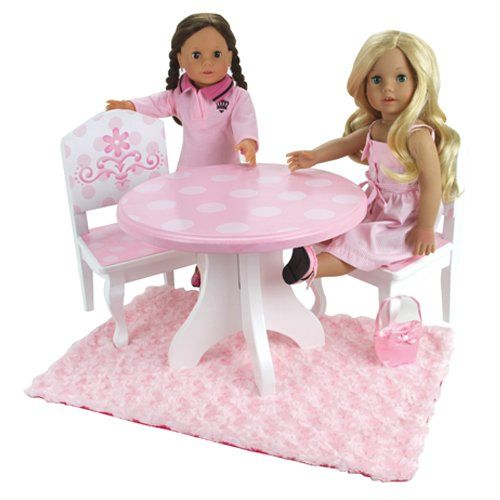 Amazoncom 18 Inch Doll Table Chairs Set Fits American Girl