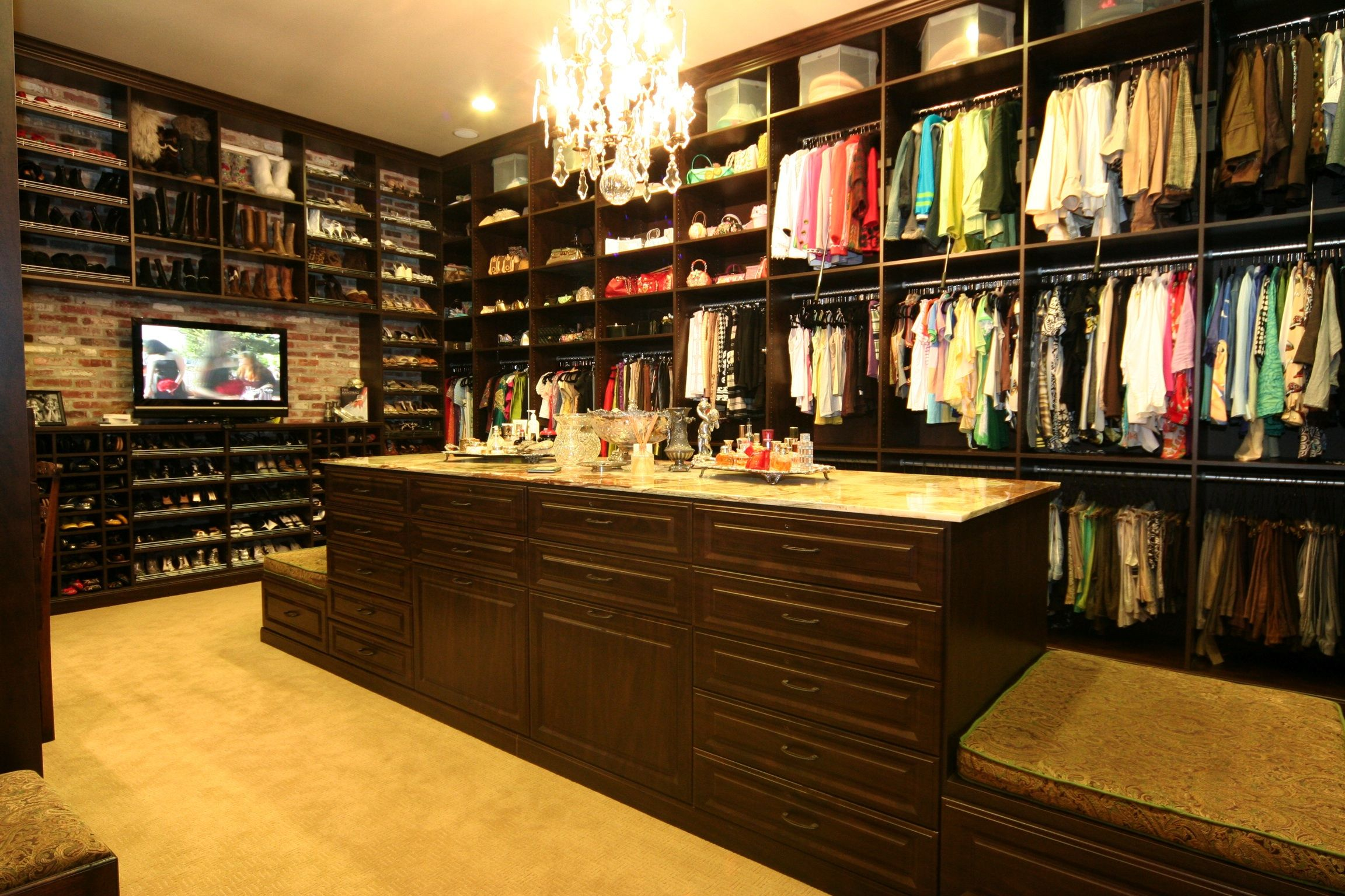 Mocha Custom Closet From Ultimate Storage Systems