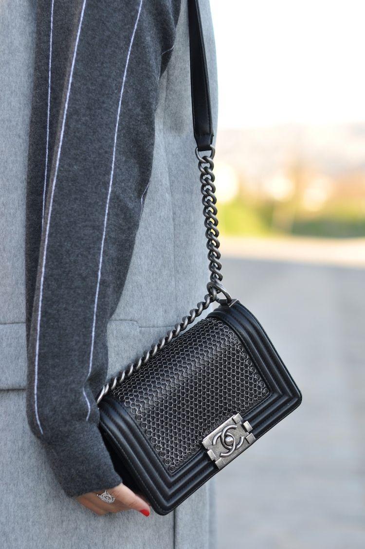 f1dc1afdb8 L'atout gris   LovaLinda x Blog Mode Look Marseille x Zara Jacket x Stella  McCartney x Chanel Boy