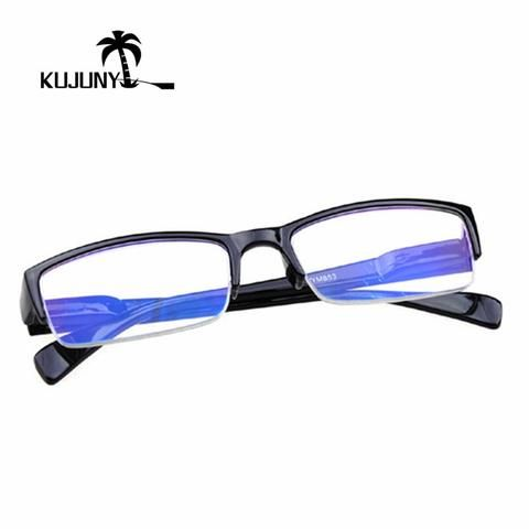 a19ba454413 KUJUNY Half-Frame Reading Glasses Women Men Presbyopic Glasses Stylish  Hanging Elderly Eye Glasses Slim Presbyopia Eyeglasses