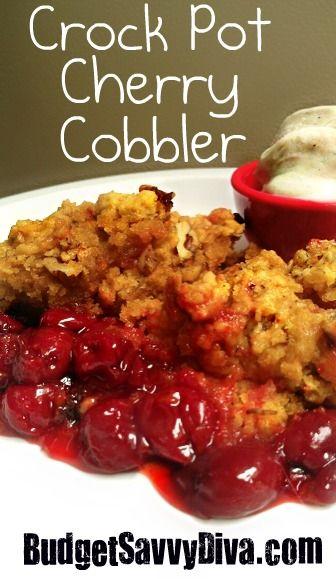 Crock Pot Cherry Cobbler - Very Easy To Make