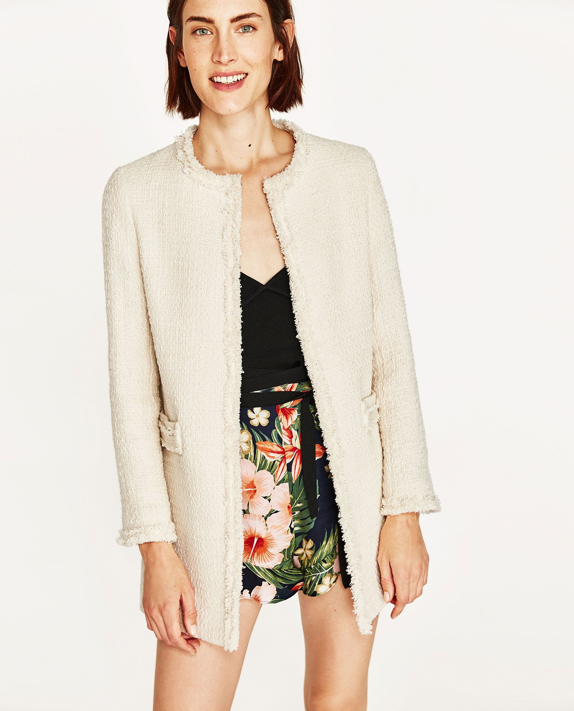 ad14ad2d95 Image 2 of TEXTURED TWEED FROCK COAT from Zara