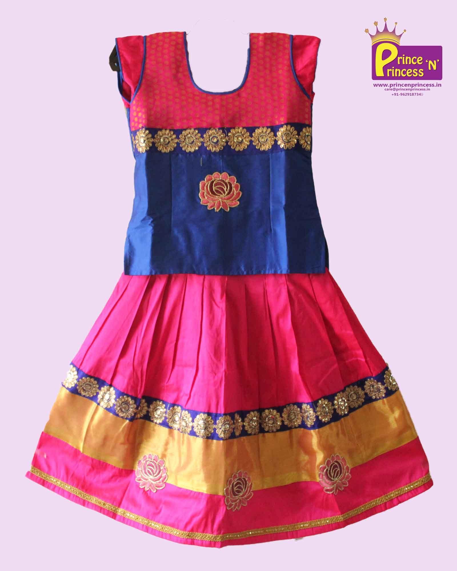 f1645e4160c2 designer Pattu Pavada langa only at www.princenprincess.in  pattu ...
