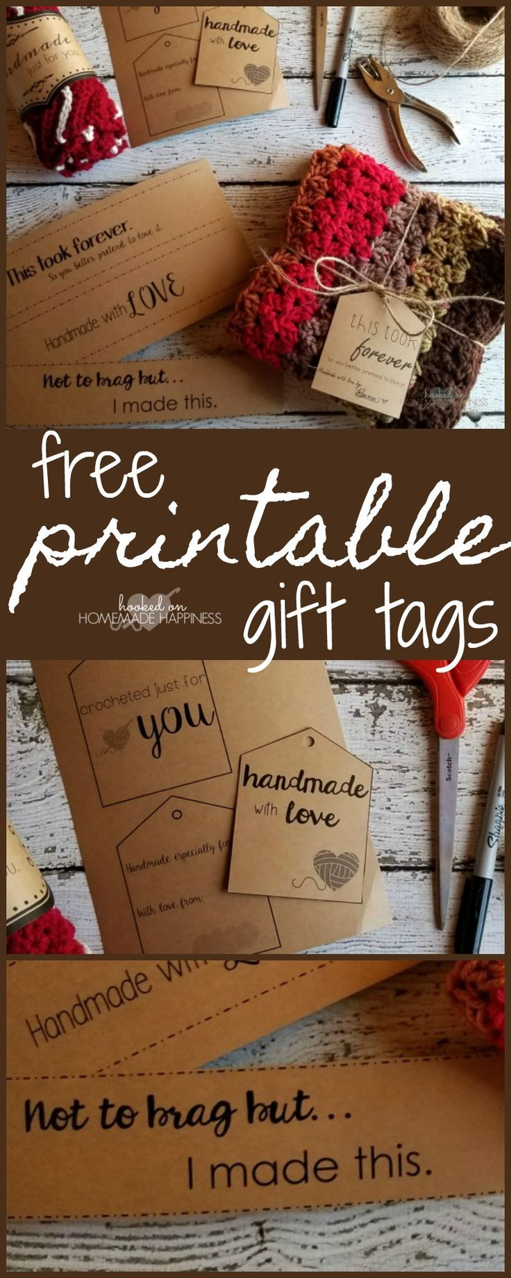 Free Printable Gift Tags Crochet Printables