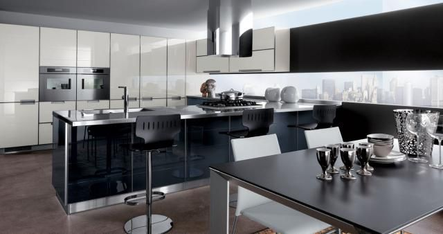 These Are Probably The 5 Most Ultra-Modern Kitchens You've Ever Seen: High Color Contrast Ultra Modern Kitchen Design