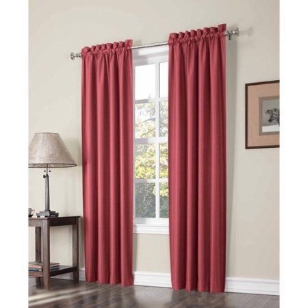Sun Zero Graham Thermal Lined Room Darkening Curtain Panel Pair