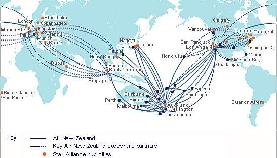Air New Zealand Route Map Map thanks to our friends at Air New Zealand We can send pets  Air New Zealand Route Map