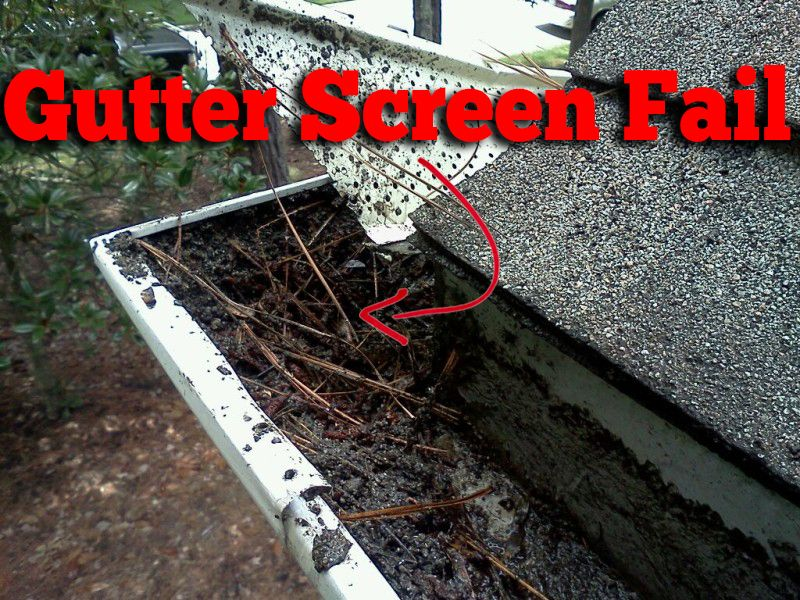 Our Installers Lifted Up A Screen Gutter Guard To Find A Large Amount Of Pine Needles And Dirt A Huge Gutter Cleaning Gutters Gutter Protection Gutter Screens