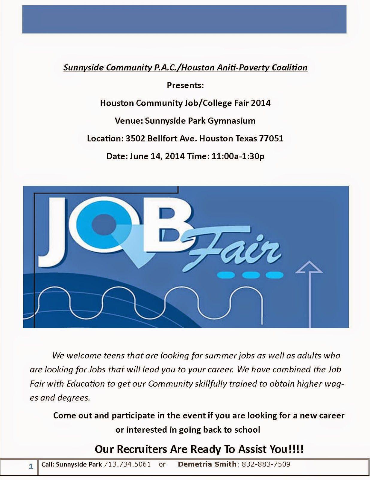 Houston District D Houston Community Job/ College Fair