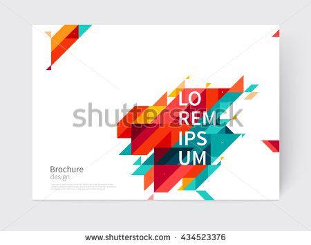 Minimalistic White cover Brochure design Flyer, booklet, annual - annual report cover template