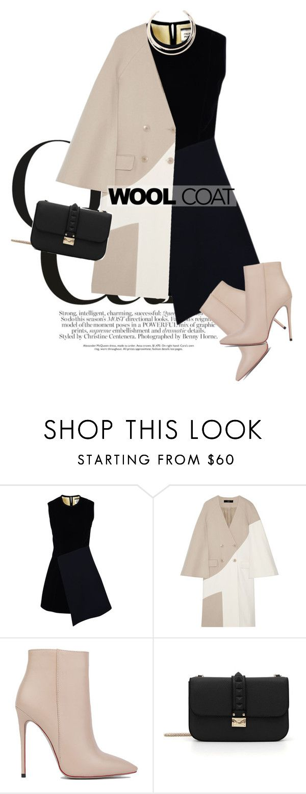 """blend"" by perilousness-fashion on Polyvore featuring FAUSTO PUGLISI, TIBI, Akira Black Label, Valentino and GUESS"