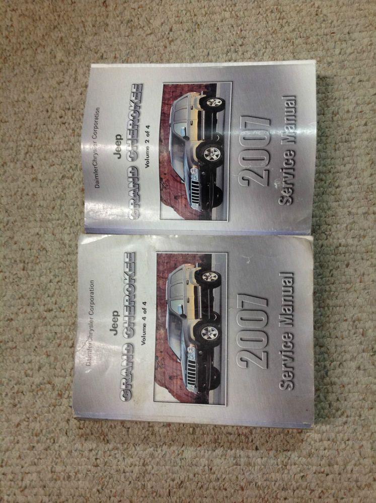 2007 Jeep Grand Cherokee Service Shop Repair Manual Volume 2 Amp 4 Only Oem Repair Manuals 2007 Jeep Grand Cherokee Jeep