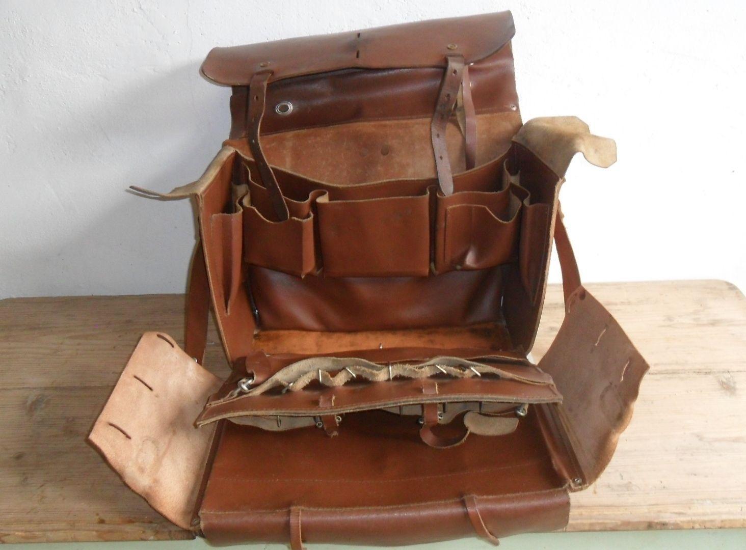 0ad6c6078128cd Vintage French Leather Tool Bag Messenger Bag Travel Bag Artists Bag Steam  Punk | eBay