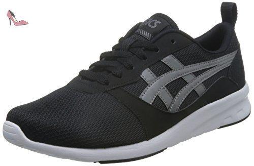 ASICS Hommes Noir/Carbon Lyte Jogger Basket-UK 9 - Chaussures ...