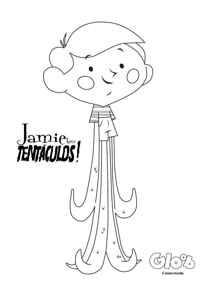 8dcd09e6f29 Para colorir  Jaime Tem Tentáculos - Jamie Tem Tentáculos! - Programas - MUNDO  GLOOB
